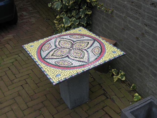 tuin mozaiek kunst